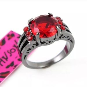 Red on black ring